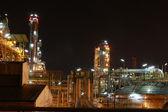 Petro and chemical plant - night scene — Stock Photo