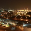 Stock Photo: Lighting of Petrochemical factory in night Time