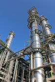 Structure of Petroleum and chemical plant — Stock Photo