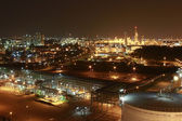 Lighting of Petrochemical factory in night Time — Stock Photo