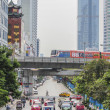 Busy traffic in city , Bangkok , Thailand — Stock Photo