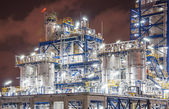 Night scene of chemical plant — Stock Photo