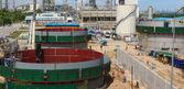 Industrial construction yard — Stock Photo