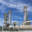 Chemical plant on day time — Stock Photo