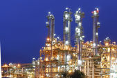 Night scene of Petrochemical factory — Stock Photo