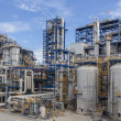 Stock Photo: Petrochemical plant wit blue sky