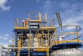 синий структура в фабрике — Стоковое фото