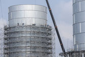 Tank storage foundation with scaffolding — Stock Photo
