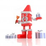 Santa Claus - 3d cartoon Character — Φωτογραφία Αρχείου