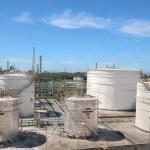 Chemical tanks storage — Stock Photo