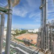 Chemical refinery tower — Stock Photo