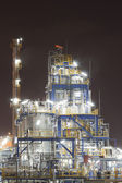 Chemical industrial plant in night time — Stock Photo