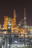 Industrial plant in night time — Stock Photo