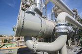 Heat exchanger in industrial plant — Stock Photo