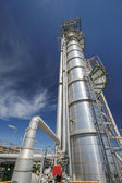 Refinery tower in industrial plant — Stock Photo