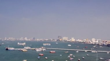 Time lapse of Pattaya bay , Thailand — Stock Video