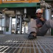 Engineer working in refinery plant — Stock Video