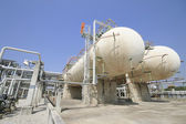 Gas storage tanks — Stock Photo