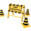 3D Under construction barricade — Stock Photo #40733817