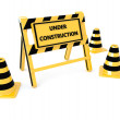 3D Under construction barricade — Stock Photo #40733863