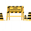 3D Under construction barricade — Stock Photo #40733877
