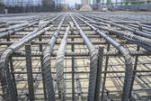 Reinforce iron cage in a construction site — Stock Photo