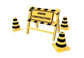 3D Under construction barricade — Stock Photo
