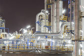 Petroleum plant in night time  — Stock Photo