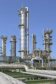 Oil and chemical refinery factory — Stockfoto