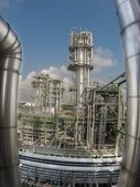 Refinery plant in wide lens — Stock Photo