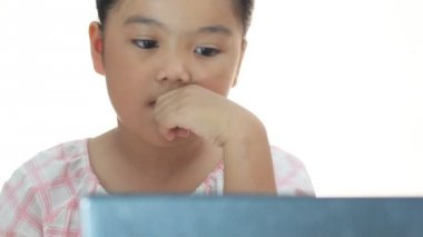 Children with computer — Stock Video