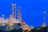 Refinery Structure with cooling tower in twilight — Stock Photo