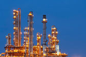 Night scene of refining plant ,Processed using HDR — Stock Photo