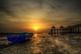 Seaview at sunset and sunrise — Photo