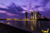 View of Putrajaya Building at sunset — Stock Photo