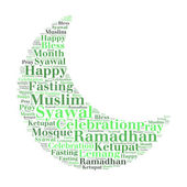 Ramadhan wording in moon shape — Stock Photo