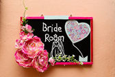 Signage with wording Bride Room — Stockfoto