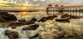 Seaview in morning — Foto Stock