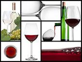 葡萄酒的拼贴画 — 图库照片