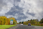 Dual carriageway national road in Ireland — Stock Photo