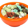Colorful sugar coated chocolate candy rocks — Stock Photo