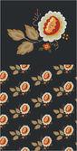 Simple Vintage Floral Pattern — Stock Vector