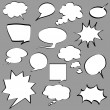 Stock Vector: Comic speech bubbles