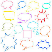 Comic speech bubbles — Stock Vector