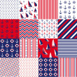 Seamless pattern with nautical elements — Vector de stock