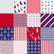 Seamless pattern with nautical elements — ストックベクタ