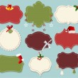 Vintage christmas label banner set — Stock Vector