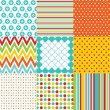 Seamless patterns with fabric texture — Stockvektor