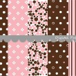 Royalty-Free Stock Imagen vectorial: Digital patterns, scrapbook set