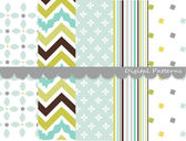 Digitale patronen, scrapbook set — Stockvector